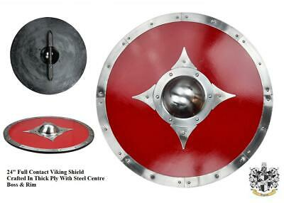 24  Full Contact Viking Re-enactment Shield For Costume Stage Decoration Or Prop • 72£