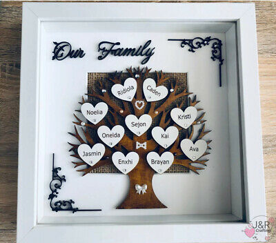 PERSONALISED FAMILY TREE , Our Family ...Gift 3D Box Frame,Birthday, • 21.99£