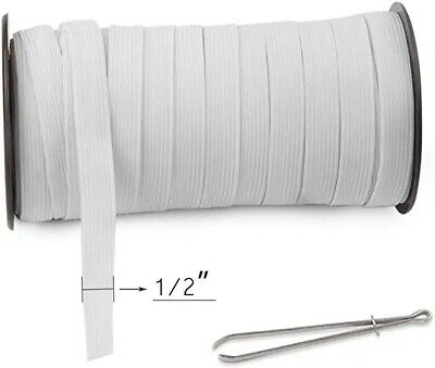 $ CDN1.25 • Buy White  1/2  Wide Elastic By The Yards- US SELLER SHIP NOW!!!