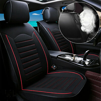 $85.89 • Buy Universal 5-Seats Black Linen Car Seat Cover Cushion Set Front +Rear Accessories