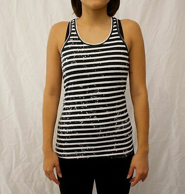 AU13.99 • Buy Womens Y Back Training Workout Singlet 100% Cotton Vintage Stripe