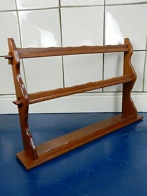 Ercol Mid Century Retro Vintage Wooden Plate Wall Mounted Plate Rack Elm 1970s • 55£