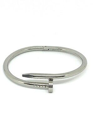 $25 • Buy Stainless Steel Nail Bangle Bracelet Hinged