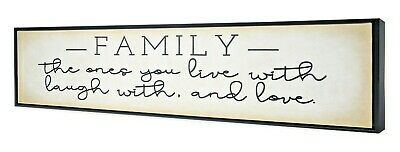 Family The Ones You Live Laugh With Love Wall Art Framed Canvas Home Decor Sign • 28.37£