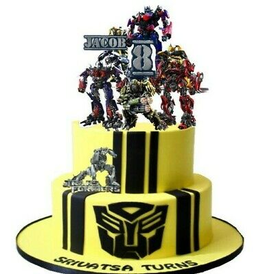 Personalized TRANSFORMERS Cake Topper 5.1  Birthday Party • 5.99£