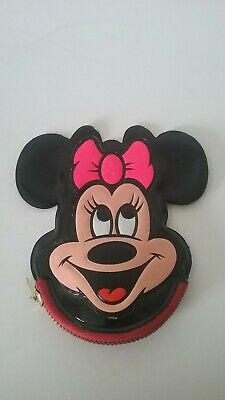 $23 • Buy Vintage Disneyland Minnie Mouse Black Vinyl Coin Purse With Squeaker 1970's