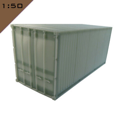 1x 3D Printed 20ft SHIPPING CONTAINER 1:50  Model Diorama Scenery Miniature • 19.90£