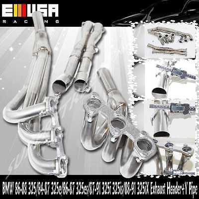 $148.99 • Buy SS Exhaust Header+Y Pipe Fits 1987-1991BMW 325is Base Coupe 2D 2.5L E30 M20