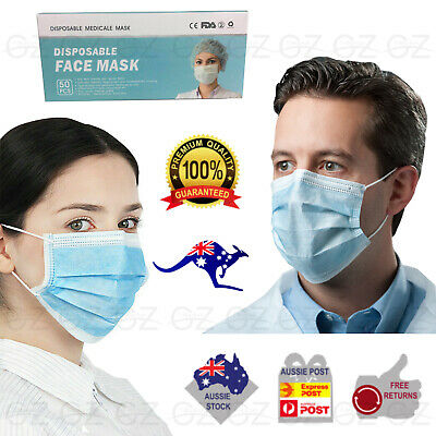AU74.45 • Buy Up To 200 Genuine CE Medical Surgical Procedure Disposable Face Mask 3PLY Blue