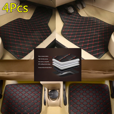 AU44.26 • Buy New PU Leather Car All Weather Floor Mat Carpet Protect Pad Waterproof 4X Black