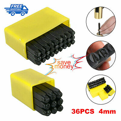 £6.69 • Buy 36pcs Stamps Letters Alphabet Numbers Set Punch Steel Metal Tool Craft 4mm UK