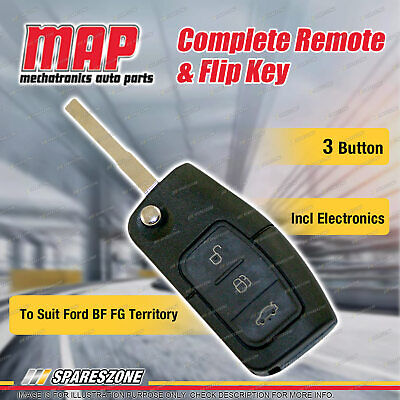 AU125.95 • Buy MAP Complete 3 Button Remote & Flip Key Shell For Ford BF FG Series 1 Territory