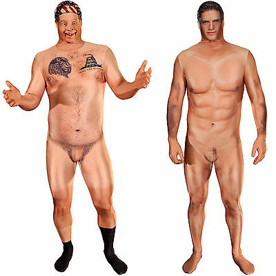 Naked Censored Morphsuit. Hillbilly Or Naked Sexy Man Adult Fancy Dress Costume. • 40£