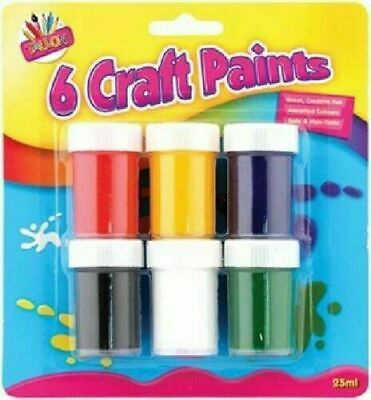 Kids Craft Paint Set 6 Children's Art & Craft Painting Pots Fun Colours Painting • 5.99£