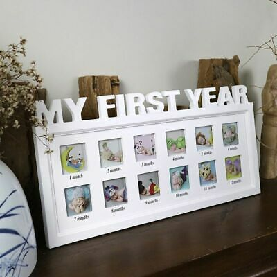 £20.83 • Buy Photo Frame Creative Diy 0-12 Month Baby My First Year Pictures Souvenirs Gift