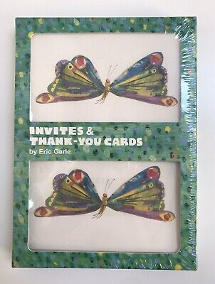 The Very Hungry Caterpillar 10 Party Invitations & 10 Thank You Cards Set NEW • 14.81£