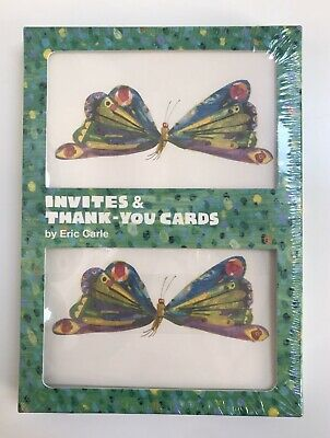 £11.61 • Buy The Very Hungry Caterpillar 10 Party Invitations & 10 Thank You Cards Set NEW