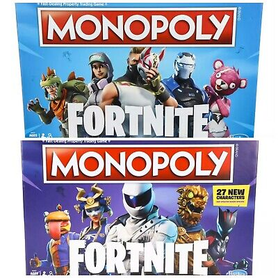 $25.99 • Buy Set Of 2 FORTNITE Monopoly Editions Board Game 54 Characters Brand New Hasbro