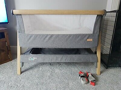 Tutti Bambini CoZee Bedside Crib Next To Me Charcoal Grey (Used) Travel Cot • 89.99£