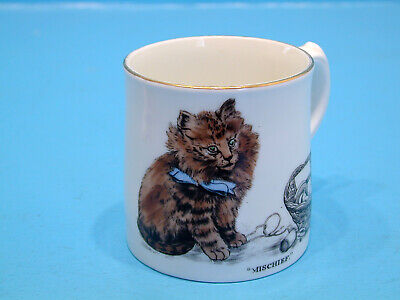 1920's Aynsley Mug - Cat Playing In Sewing Basket -  Mischief  • 14.99£
