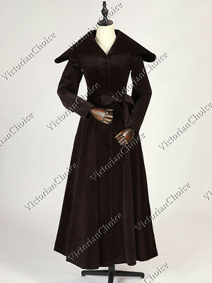Edwardian 1920's Vintage Velvet Trench Coat Steampunk Halloween Costume C043 • 151.07£