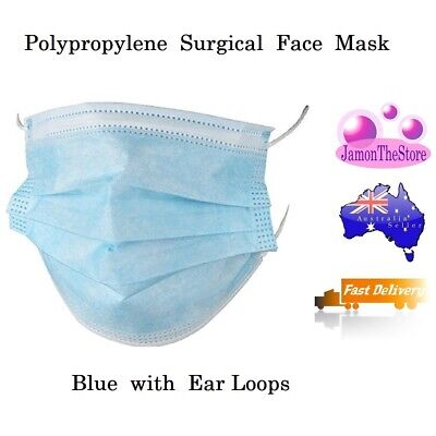 AU25 • Buy Disposable Surgical Medical Face Mask Premium Individual Pack 4ply Blue Earloop