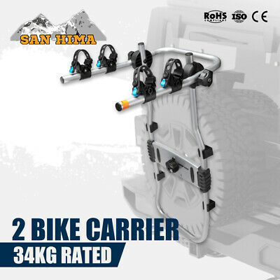 AU129.95 • Buy 2 Bicycles Bike Rack Carrier For Car Rear SUV 4x4 4WD Foldable Spare Wheel Mount
