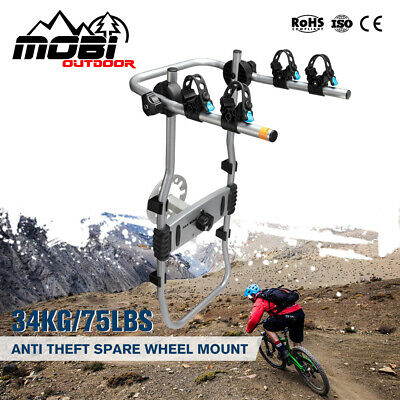 AU149.99 • Buy MOBI 2 Bicycles Bike Rack Carrier For Rear SUV 4x4 Foldable Spare Wheel Mount
