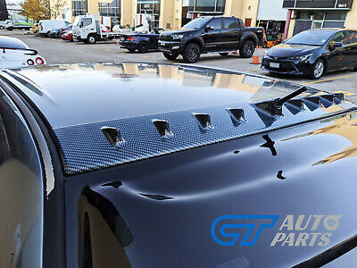 AU149 • Buy ABS Carbon Style VORTEX GENERATOR Roof Fin Spoiler For 00-06 LANCER EVO 7 8 9