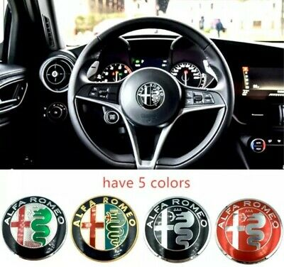 1pc 40mm Alfa Romeo Steering Wheel Emblem Badge ALFA ROMEO Brera 147 156 159 166 • 4.99£