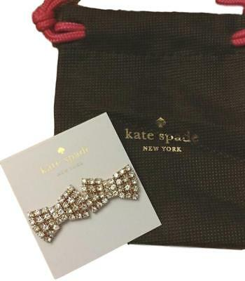 $ CDN37.89 • Buy Kate Spade Rose Gold Sparkling Bow Stud Earrings NEW Tags & Bag 100%AUTHENTIC
