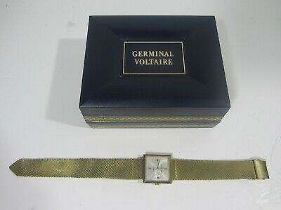 $ CDN54.42 • Buy Vintage Germinal Voltaire 17 Jewels Watch Gold Plated Mesh Band Running