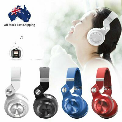 AU19.36 • Buy Bluedio T2S Wireless Headphones Bluetooth 4.1 Stereo Headsets With Mic AU