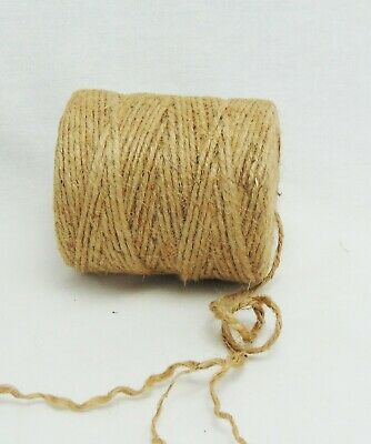 400' Premium Jute Twine String, All-Natural, 3-ply Cord Rope For Craft & DIY • 7.15£