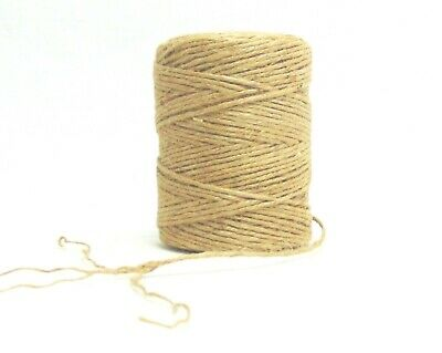 400' Premium Jute Twine Strings, Natural, 4-ply Cord Rope For Craft & DIY • 7.86£