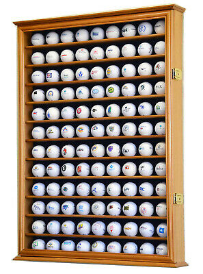 108 Golf Ball Display Case Cabinet Wall Rack Holder W/98% UV Protection Lockable • 86.79£