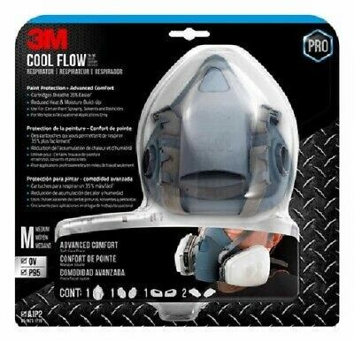 AU179.95 • Buy 3m Safety Professional Cool Flow Half Face Respirator Cartridges Made In Usa