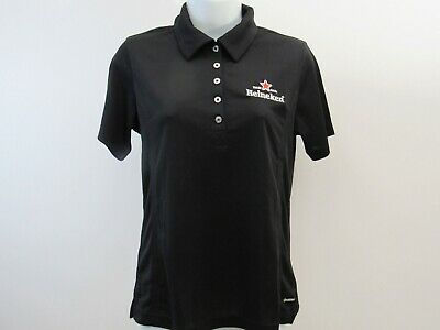 Heineken Polo Golf Shirt Womens Black Size Size S • 33.39£