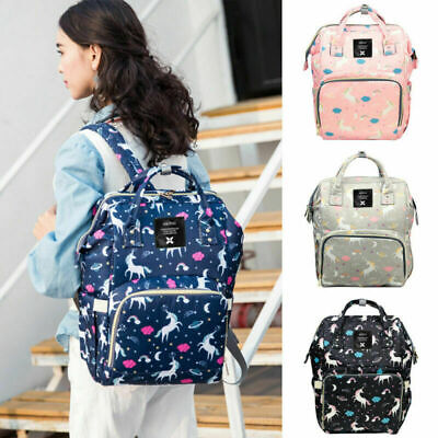 AU26.99 • Buy Multifunctional Unicorn Baby Diaper Backpack Changing Bag Mummy Nappy