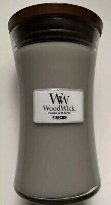 $34.75 • Buy WOODWICK FIRESIDE 21.5 Oz LARGE CRACKLING Fireplace HOURGLASS JAR CANDLE New!
