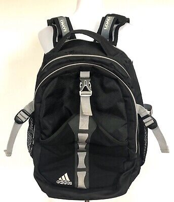 $21.59 • Buy Adidas Prime V Backpack Black Gray Book Bag Laptop Load Spring