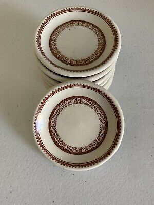$20 • Buy 7 MAYER CHINA Butter Pat Set True Ivory Wiltshire Pattern