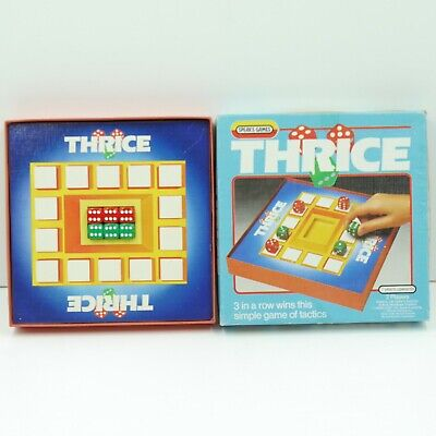 Thrice Board Game Spear's Games 1985 Complete • 4.50£