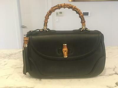 AU1200 • Buy GUCCI Bamboo Leather Top Handle Tassle Bag- Large - RRP $3600