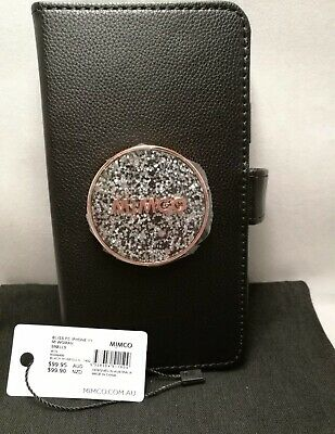 AU59.99 • Buy BNWT MIMCO BLISS Flip Case For IPhone 11 BLACK Rose Gold FREE Postage, New, Auth