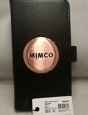 AU59.99 • Buy BNWT MIMCO MIM Flip Case For IPhone 11  BLACK Rose Gold FREE Postage, New