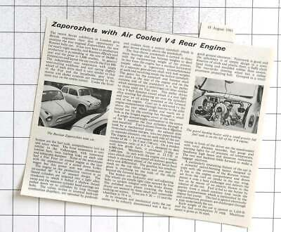AU9 • Buy 1961 Engineering Review Of The Zaporozhets With Air-cooled V4 Rear Engine