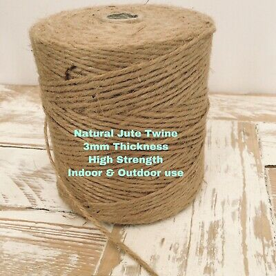 10 Metre 3mm 3ply Natural Brown Jute Twine String Rustic Cord Shabby Chic Crafts • 2.49£