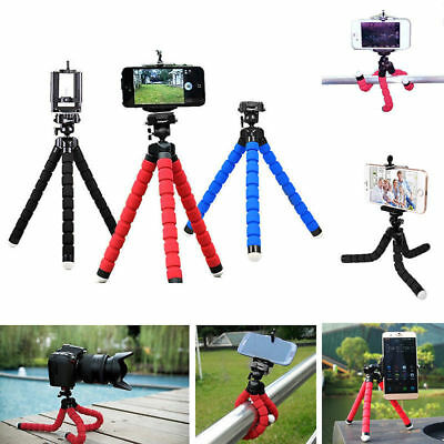 Universal New Flexible Stand Tripod Mount Holder For Phone Camera IPhone Samsung • 4.87£