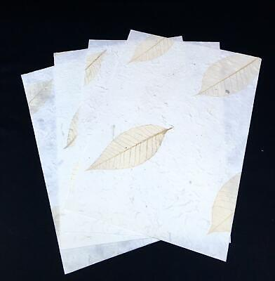 £2.99 • Buy Handmade Mulberry Paper 4 X A4 10 X A5 Sheets Art/craft/decoupage/leaf Wrap